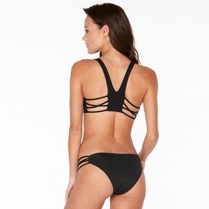 L*Space RYLIE Deep V Racerback Strappy Bikini Top